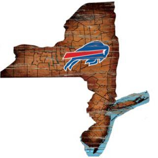 "Buffalo Bills Distressed 24"" x 24"" State Wall Art"