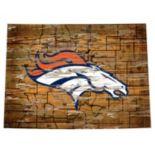 "Denver Broncos Distressed 24"" x 24"" State Wall Art"