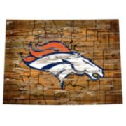 "Denver Broncos Distressed 24"" x 24"" State Wall Art"
