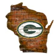 "Green Bay Packers Distressed 24"" x 24"" State Wall Art"
