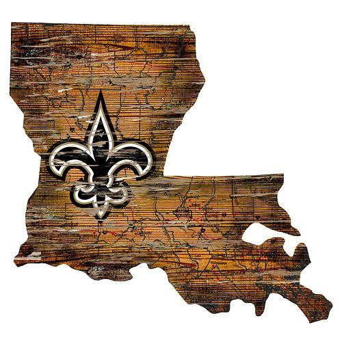 New Orleans Saints Distressed 24