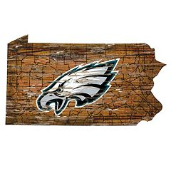 Philadelphia Eagles Distressed 24' x 24' State Wall Art