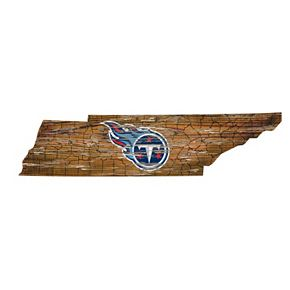"Tennessee Titans Distressed 24"" x 24"" State Wall Art"