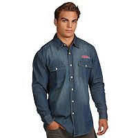 Men's Antigua Ole Miss Rebels Chambray Shirt