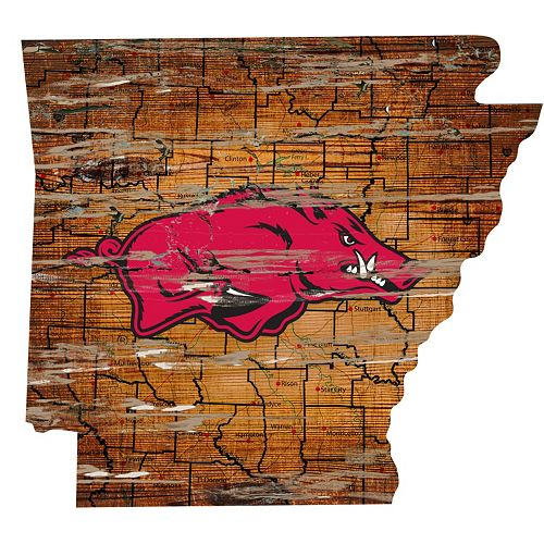 Arkansas Razorbacks Distressed 24