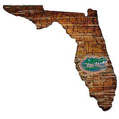 Florida Gators Distressed 24' x 24' State Wall Art