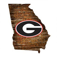 Georgia Bulldogs Distressed 24' x 24' State Wall Art