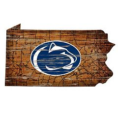 Penn State Nittany Lions Distressed 24' x 24' State Wall Art