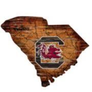 "South Carolina Gamecocks Distressed 24"" x 24"" State Wall Art"