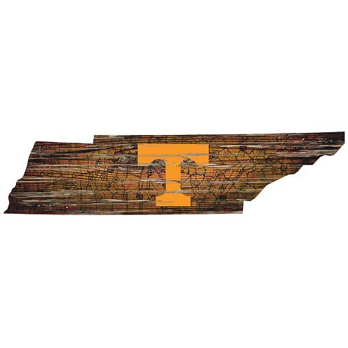 "Tennessee Volunteers Distressed 24"" x 24"" State Wall Art"