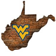West Virginia Mountaineers Distressed 24' x 24' State Wall Art