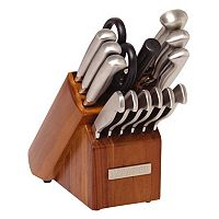 Sabatier 15-pc. Stainless Steel Knife Block Set