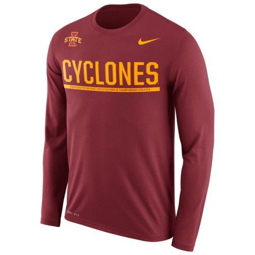 Men's Nike Iowa State Cyclones Legend Staff Sideline Dri-FIT Long-Sleeve Tee