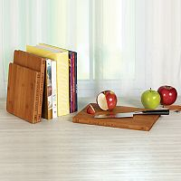 Sabatier Library 3 pc Bamboo Chopping Board Set