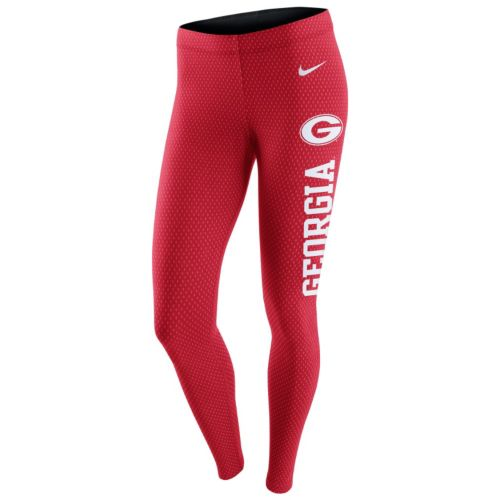 Women's Nike Georgia Bulldogs Leg-A-See Dri-FIT Leggings