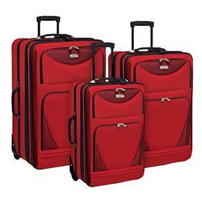 Travelers Club Sky-View 3-Piece Wheeled Luggage Set