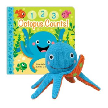 "Knitty Bitties ""Octopus Counts"" Keepsake Book & Plush Toy Set by Cottage Door Press"
