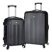 Travelers Club Chicago 2-piece Expandable Spinner Luggage Set