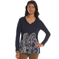 Chaps Paisley Hooded Top - Women's