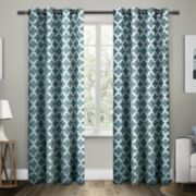 Exclusive Home 2-pack Neptune Trellis Cotton Window Curtains