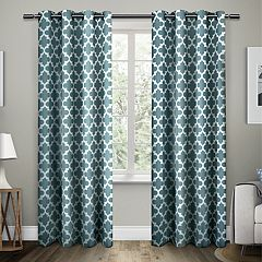 Exclusive Home 2-pack Neptune Cotton Grommet Top Window Curtains