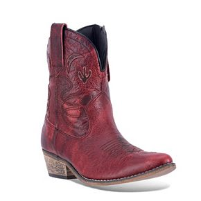 Dingo Adobe Rose Women's Distressed Western Ankle Boots