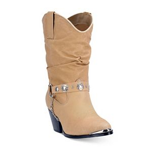 100845878e6 Dingo Twisted Sister Women's Slouch Western Ankle Boots