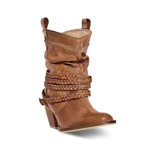 0e7709ced7122 Dingo Twisted Sister Women's Slouch Western Ankle Boots