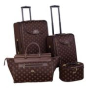 American Flyer Fleur De Lis 4-Piece Luggage Set