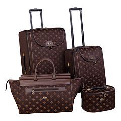 American Flyer Fleur De Lis 4 pc Luggage Set