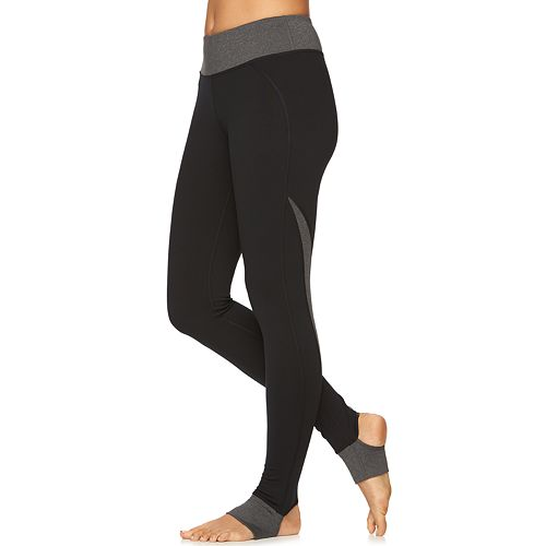 Women's Gaiam Om Panel Stirrup Barre Yoga Leggings