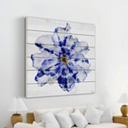 Parvez Taj Blue and White Flower Wall Art