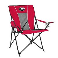 Adult Logo Brand Georgia Bulldogs Game Time Portable Folding Chair