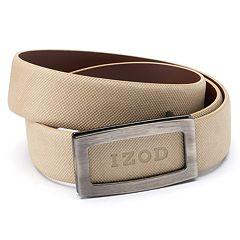 Men's IZOD Cutout Logo Plaque Golf Belt