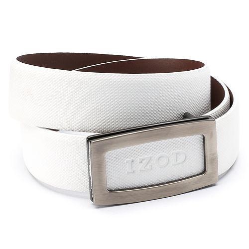 Men's IZOD Cutout Logo Plaque Golf Belt