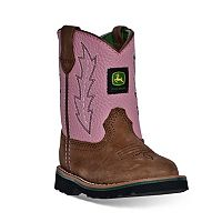 John Deere Toddler Girls' Pull-On Boots