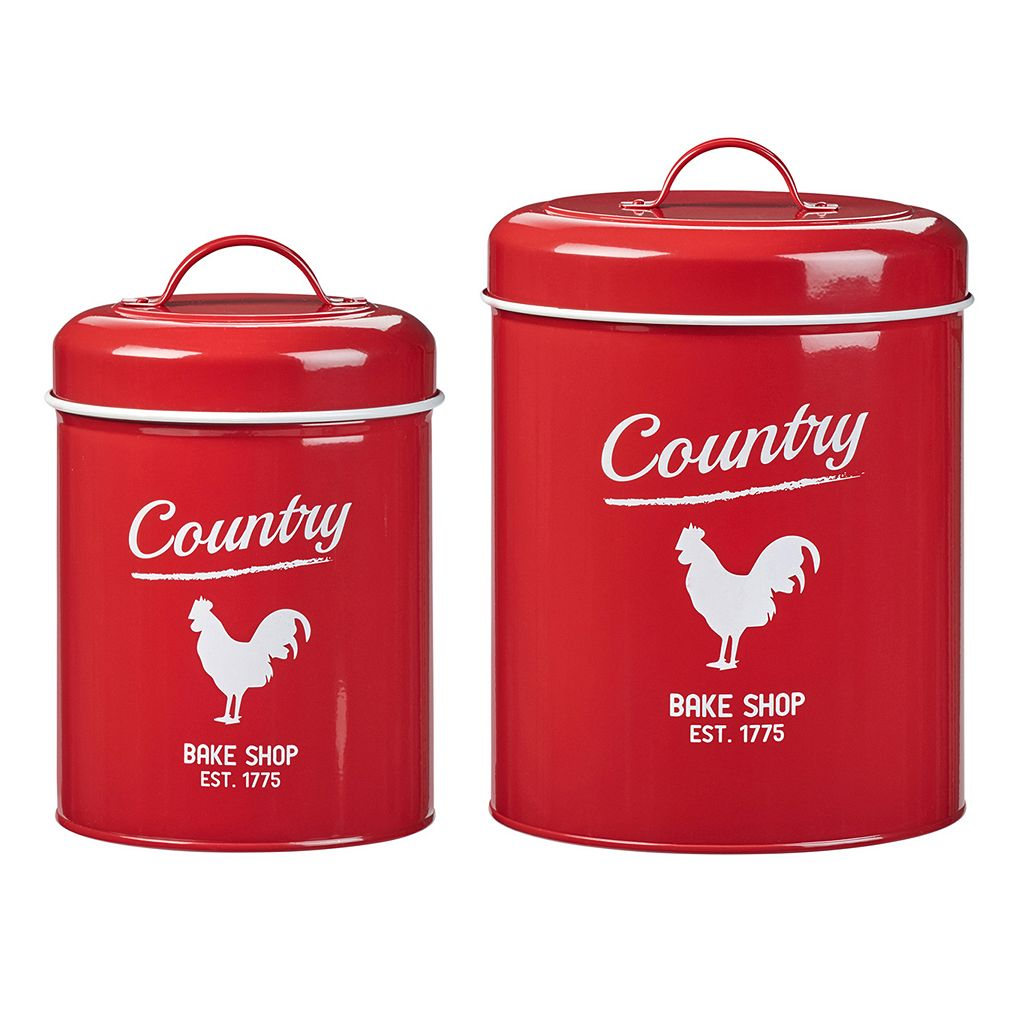 Global Amici Country Rooster 2-pc. Kitchen Canister Set