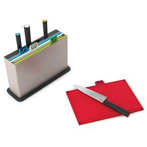 Joseph Joseph Index 9-pc. Stainless Steel Chopping Board & Knife Set