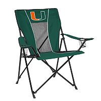 Adult Logo Brand Miami Hurricanes Game Time Portable Folding Chair