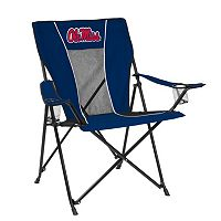 Adult Logo Brand Ole Miss Rebels Game Time Portable Folding Chair