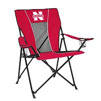 Adult Logo Brand Nebraska Cornhuskers Game Time Portable Folding Chair