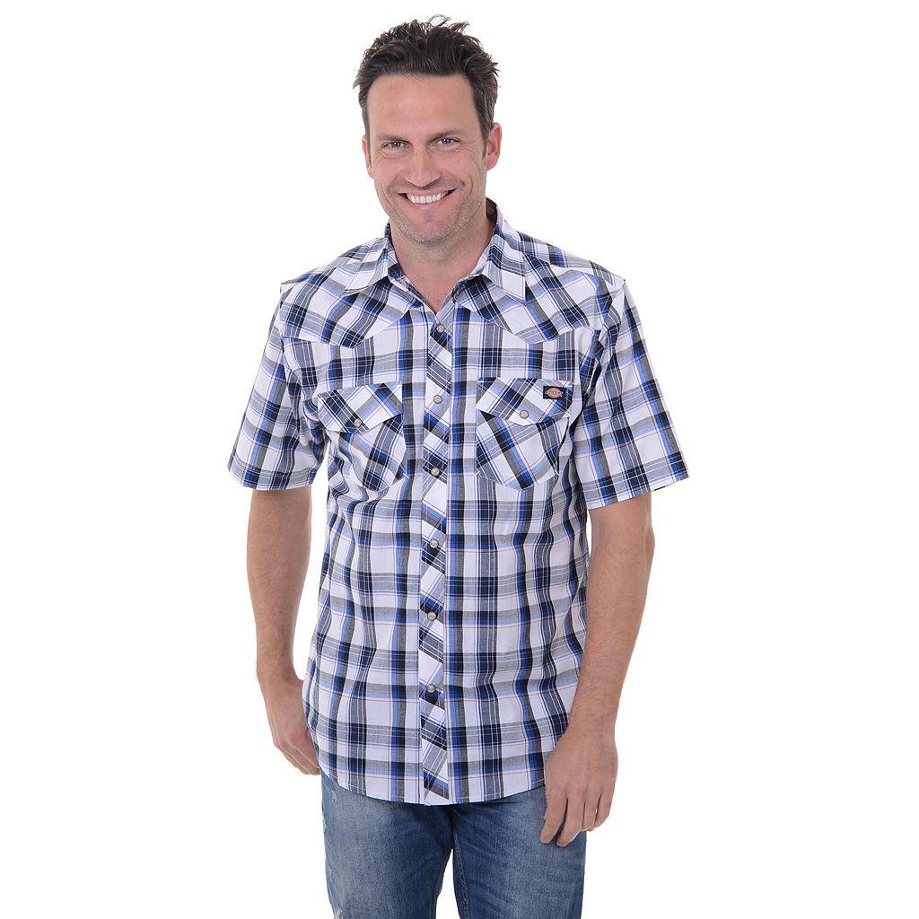 Big & Tall Dickies Western Plaid Button-Down Shirt