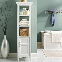 Simpli Home Avington Bath Storage Tower Cabinet
