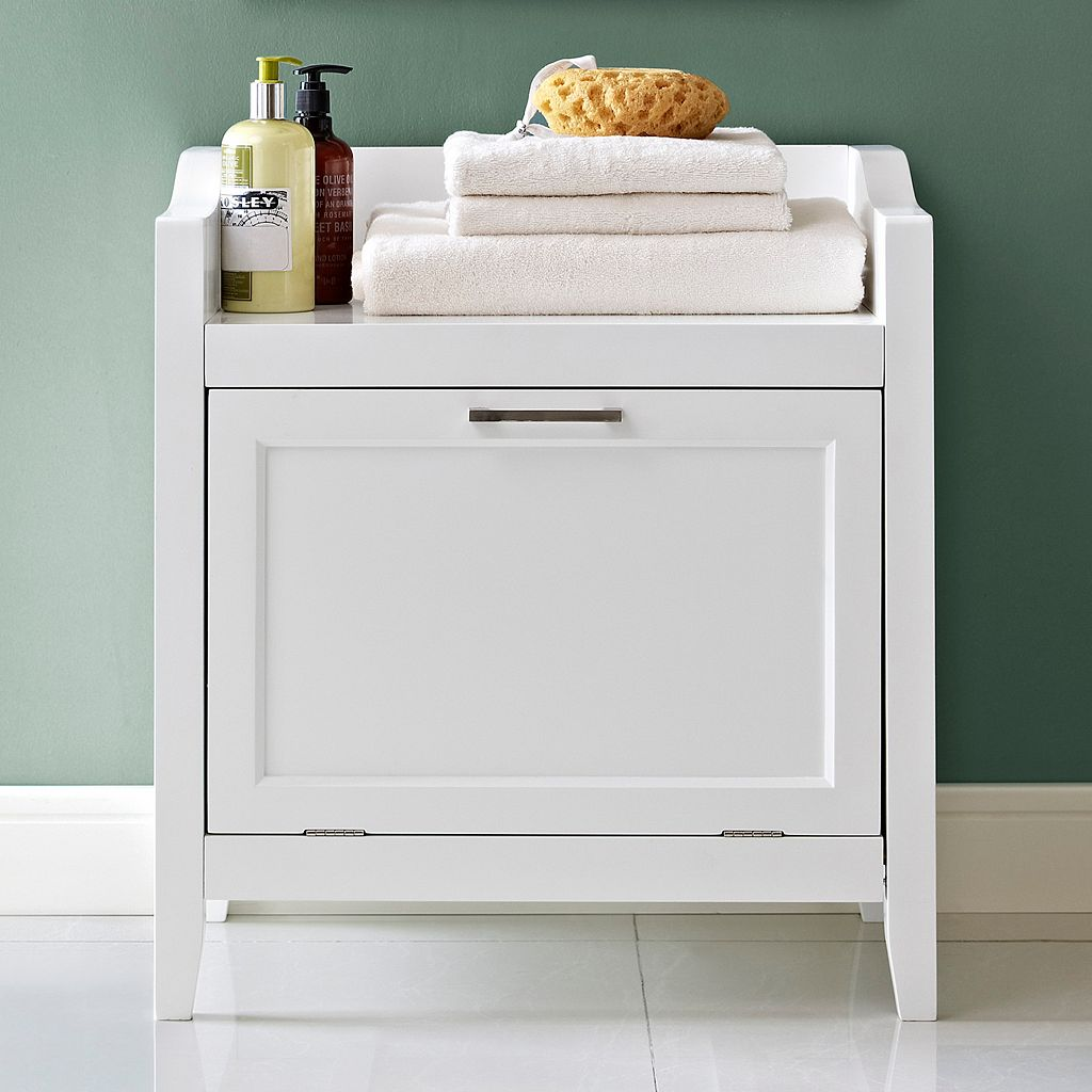 Simpli Home Avington Storage Hamper Bench