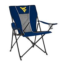 Adult Logo Brand West Virginia Mountaineers Game Time Portable Folding Chair