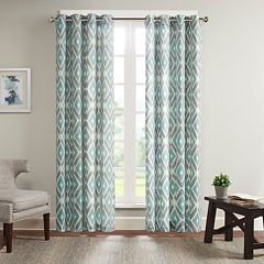 Madison Park 1-Panel Stetsen Diamond Printed Window Curtain