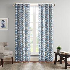 Madison Park Stetsen Diamond Printed Window Curtain