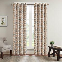 Madison Park 1-Panel Stetsen Diamond Printed Window Curtain