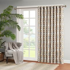 Madison Park 1-Panel Stetsen Diamond Printed Patio Curtain