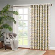 Madison Park Stetsen Diamond Printed Patio Curtain